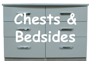Chest and Bedsides at Lakewood Furniture